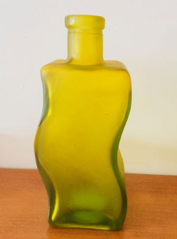 Retro Decorative CUVRE GLASS BOTTLE VASE - YELLOW